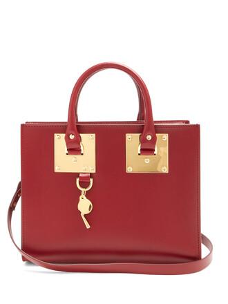 bag leather burgundy