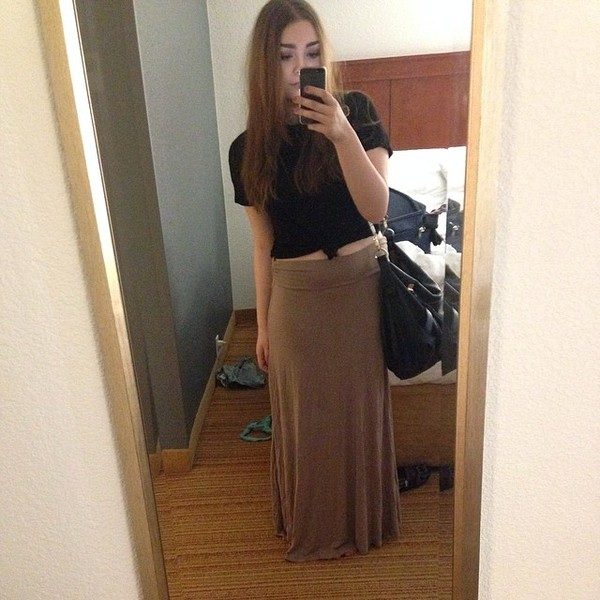 skirt maxi skirt basic clean hipster lazy day