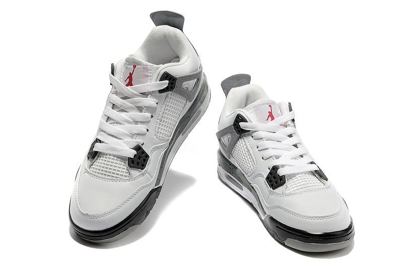 Women Air Jordan 4 Retro - White/Cement