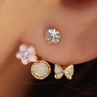Butterfly Flower Stud Earrings  | Style Icon`s Closet