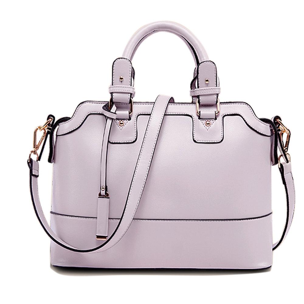 [grxjy5204209]British Style Solid Color Handbag Shoulder Messenger Bag