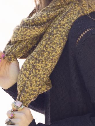 scarf wool infinity cowl neck knitwear