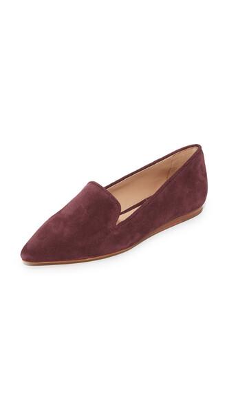 flats suede shoes