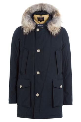 parka blue coat