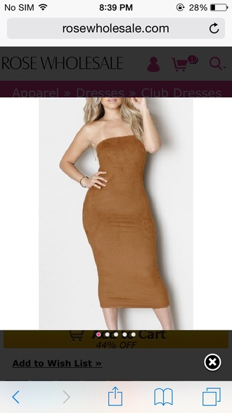 brown suede suede dress tube dress bustier dress bodycon dress curvy