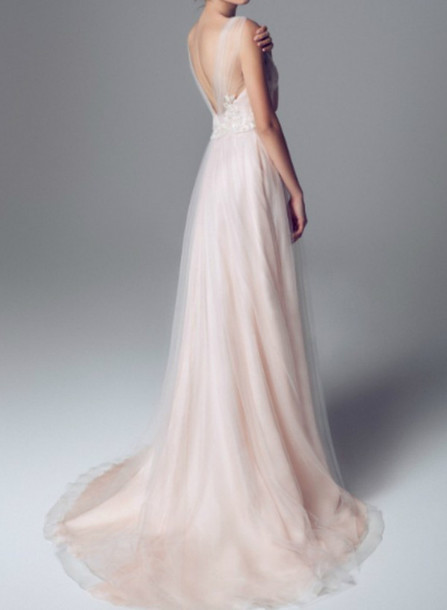 958e8ec897 dress light pink dress pink colored wedding dress wedding dress bridal gown  bohemian wedding dress beach