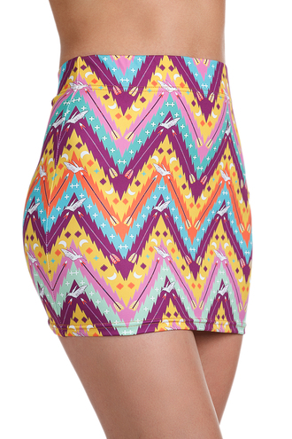 zigzaf print womens zippy tribal pattern colorful tights yoga pants printed leggings print bright colored clothes girly skirt printed skirt aztec aztec skirt blue violet