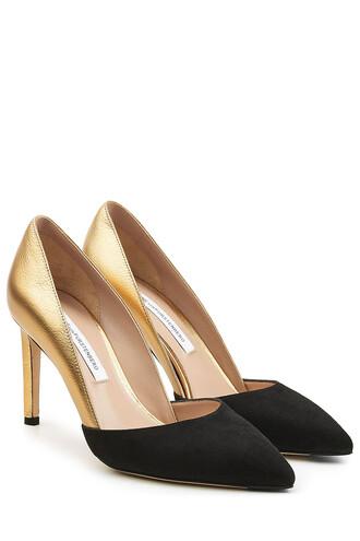 suede pumps metallic pumps leather suede black shoes