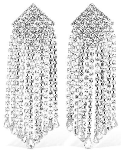 ALESSANDRA RICH Crystal Cascade Clip-on Earrings Crystal