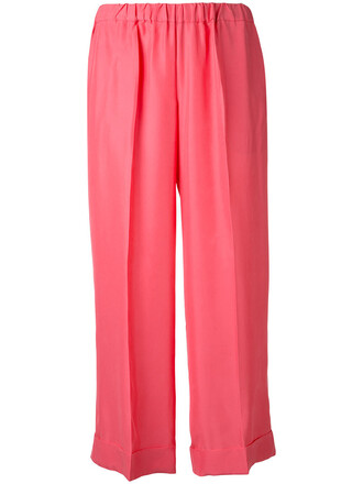 women silk purple pink pants