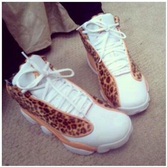 shoes leopard print jordans