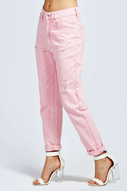 Jeans: pastel pink, fairy kei, cult party kei, pink denim, pink ...