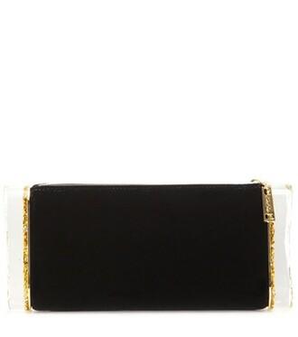 soft embellished clutch black bag