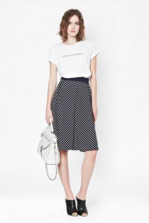 Suki Stripe Midi Skirt - Sale - French Connection Usa
