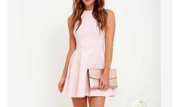 dress light pink mini dress