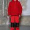 Pixie coat - red