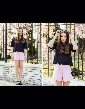 shorts cute scallop