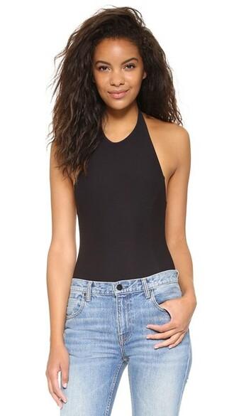 bodysuit thong classic black underwear