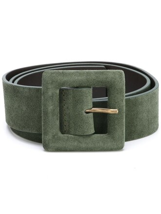 women belt leather green