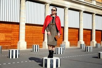 vintage traffic blogger jacket jewels lips clutch red kookai