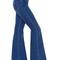 Flared stretch cotton denim jeans