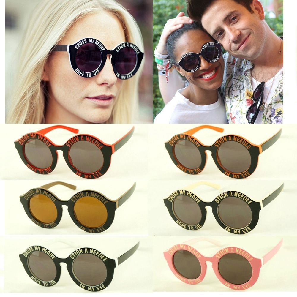 Retro Vintage Round Circle My Heart Sunglasses Fashion Summer Shades Eyewear | eBay