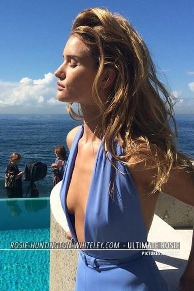 rosie huntington-whiteley dress blue dress