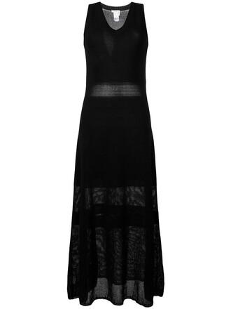 dress maxi dress maxi women cotton black knit