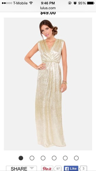 wedding clothes long dress gold dress party