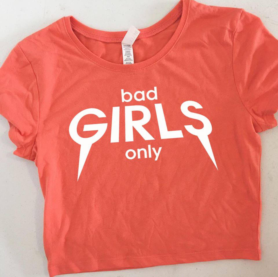 Bad Girls Only Crop Top Birthday Squad Shirts Group Custom