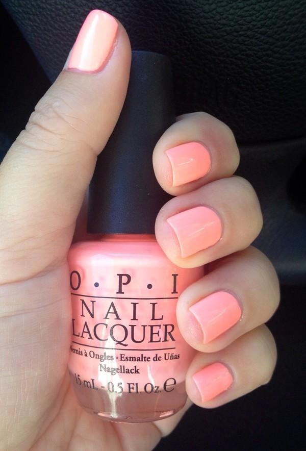 nail polish orange nail polish opi nails girly hipster
