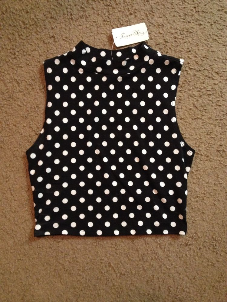 Forever 21 Polka Dot Crop Top Size Small | eBay