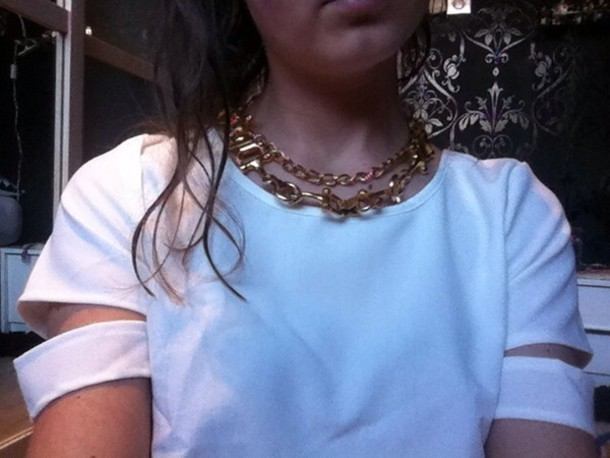 jewels gold gold chain chunky necklace necklace