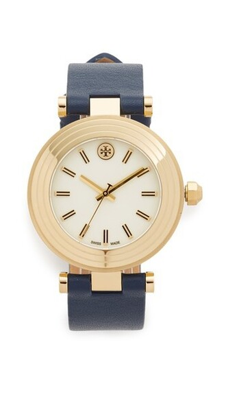 classic watch gold navy jewels