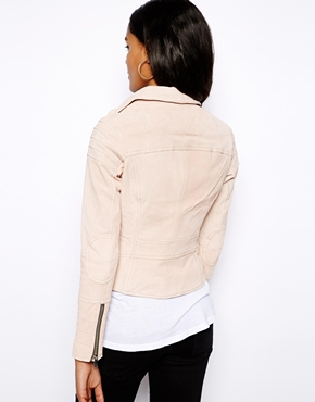 River Island | River Island Leather Biker Jacket at ASOS