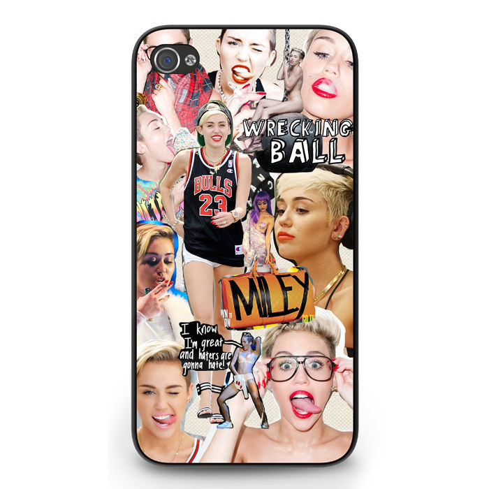 Miley Cyrus iPhone 4 4S 5 5S 5c Case Collage Wrecking Ball Twerking | eBay