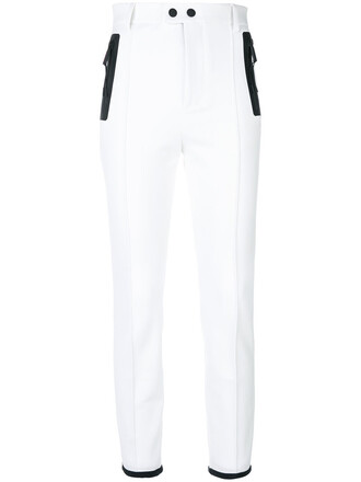 high women spandex white pants