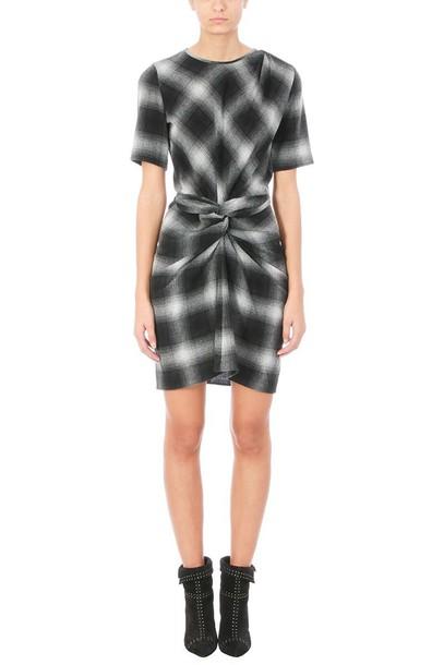 Isabel Marant etoile dress plaid wool grey