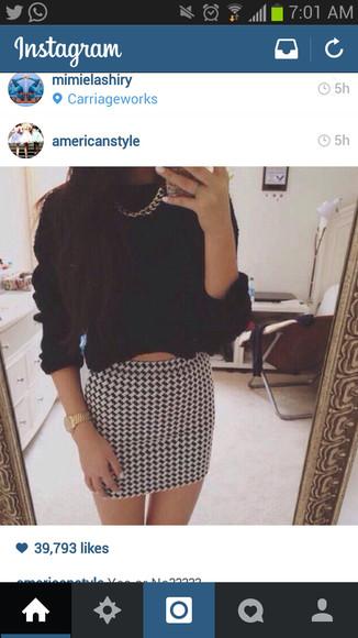 classy black and white black and white skirt bodycon skirt bodycon dress