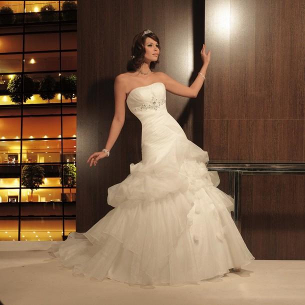 dress wedding dress blanc de mariage