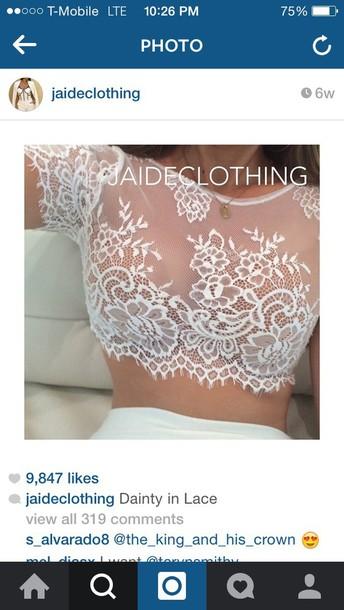 shirt top lace top white crop tops dress