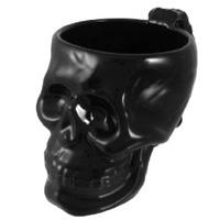 Cool black ceramic skull coffee mug