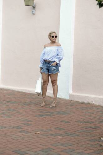 fashionably lo blogger top shoes sunglasses bag