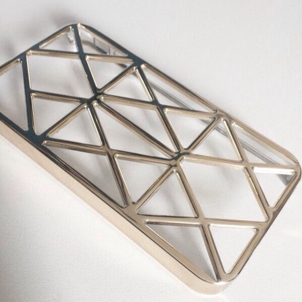 t-shirt gold iphone 4s phone cover phone cover tumblr triangle gaps phone cover