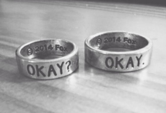 jewels the fault in our stars jewel silver ring metal rings silver rings tfios jewelry rings okay, john green, the fault in our stars, tfios ring tumblr