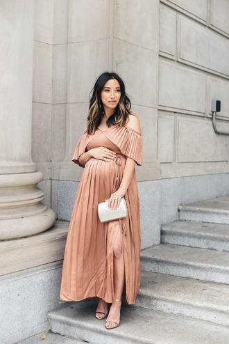 crystalin marie blogger dress shoes bag maternity maternity dress clutch sandals high heel sandals