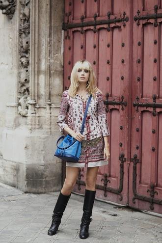 miss pandora blogger dress belt shoes bag