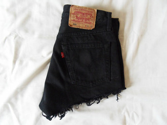 shorts cut off shorts levi's high-wasted denim shorts denim summer hot girly black levis