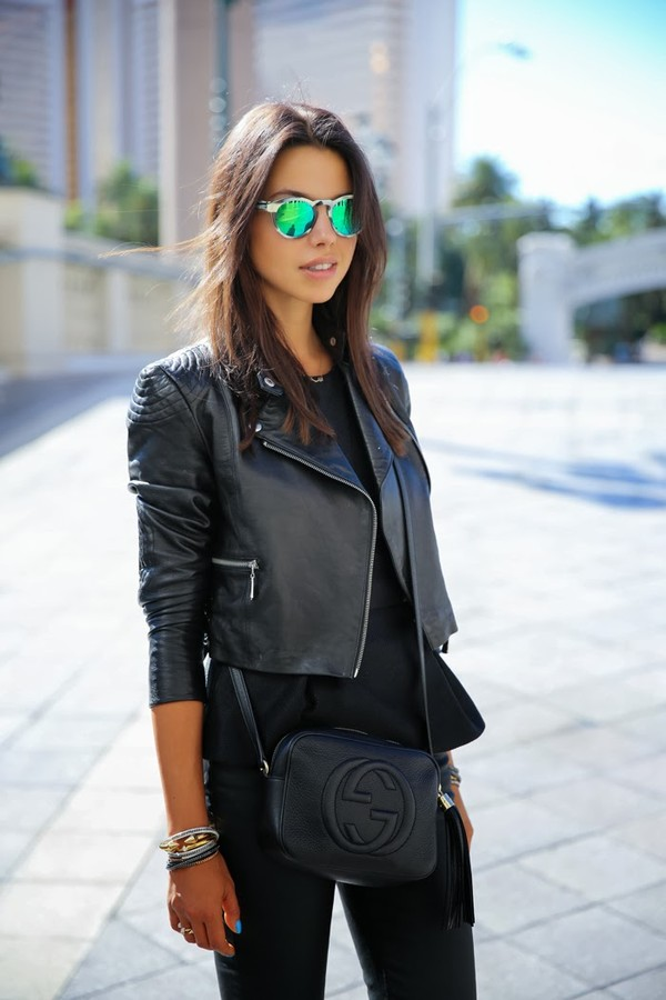 sunglasses jacket bag jewels