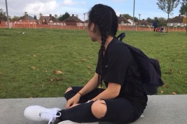 leggings black jeans tumblr vogue